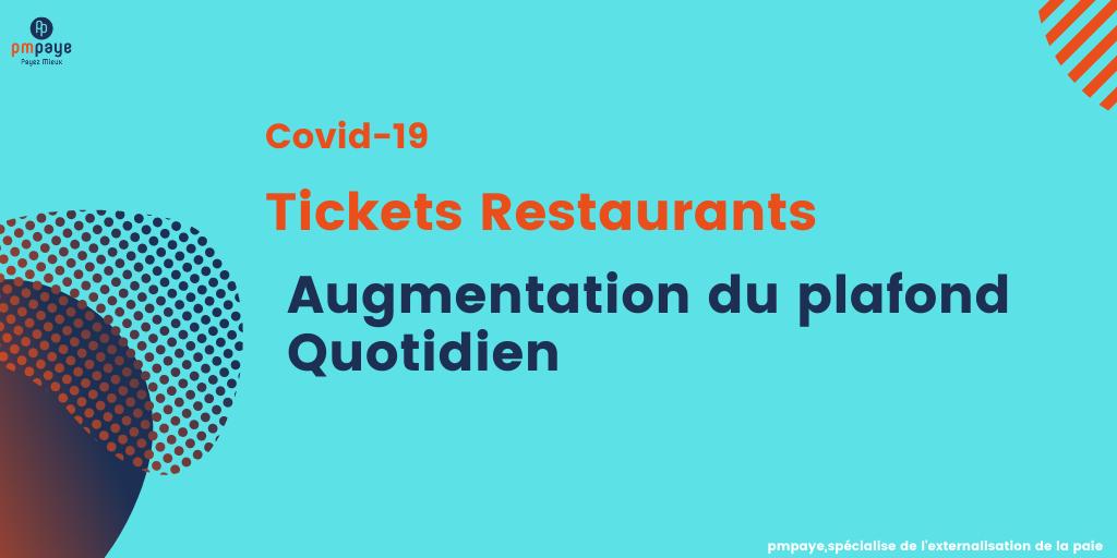 Augmentation du plafond d'utilisation quotidien des tickets restaurant